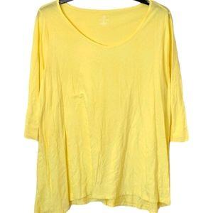 Lands End Yellow 100% Supima Cotton Shirt Size 3X
